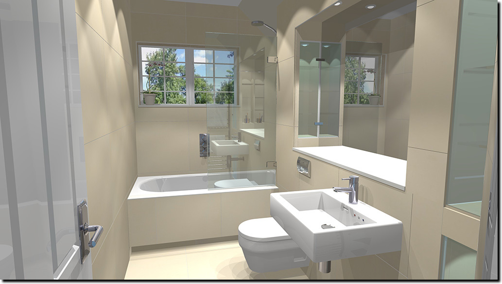 Modern Family Bathroom Ideas Part - 30: Oxshott Village Ceramics Bathroom Designs 1. Small Family ...